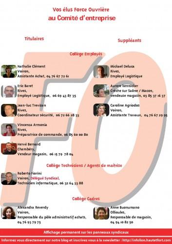 liste élus Comité Entreprise UES groupe king jouet