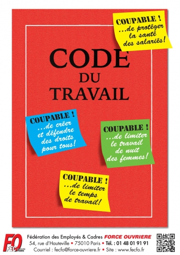 Affiche FEC FO code du travail coupable.jpg